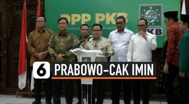 Prabowo Subianto melanjutkan safari politiknya dengan bertemu Ketum PKB Muhaimin Iskandar. Di depan Muhaimin, Prabowo menyebut persatuan kekuatan harus dibangun setelah pertarungan selesai.