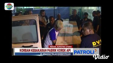 DVI Polda Sumut telah menyelesaikan identifikasi 23 jenazah korban kebakaran pabrik korek api.