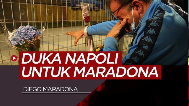 Berita video reaksi warga Naples dan fans Napoli usai mengetahui Diego Maradona meninggal dunia, Rabu malam (25/11/20)