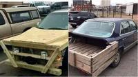 Modifikasi mobil dengan kayu (Sumber: Instagram/m.e.c.h.a.n.i.c.a.l_s)