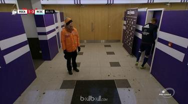 Kesal karena kejadian itu, striker asal Polandia itu meluapkan dengan menanduk pintu dengan kepalanya saat masuk ke ruang ganti.