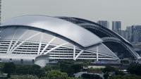 Stadion Nasional Singapura terlihat dari jauh. Stadion ini akan menjadi arena duel Timnas Singapura kontra Timnas Indonesia pada penyisihan Grup B Piala AFF 2018. (Bola.com/Muhammad Iqbal Ichsan)
