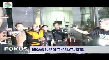 Terkait kasus suap PT Krakatau Steel (KS), tiga orang telah ditetapkan tersangka, semantara seorang lainnya masih buron.