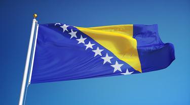 Ilustrasi bendera Bosnia & Herzegovina (AFP)