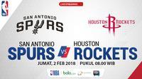 San Antonio Spurs Vs Houston Rockets_2 (Bola.com/Adreanus Titus)