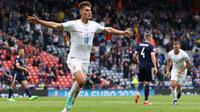 Gol kedua yang dicetak Patrik Schick ke gawang Skotlandia dari jarak 45,44 meter mencetak rekor baru di Euro. (AFP/Lee Smith)