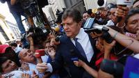 Mantan presiden Peru, Alan Garcia, tewas bunuh diri dengan menembakan peluru ke kepalanya (AFP/Luka Gonzalez)