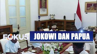 Presiden Jokowi undang warga Papua dari Distrik Yapen dan Nduga untuk makan siang di Istana Merdeka.
