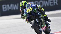 Valentino Rossi kesulitan bersaing di kualifikasi MotoGP Styria (Joe Klamar/AFP)