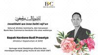 Hardono Budi Prasetya, Direktur Kepatuhan & SDM Bank Neo Commerce meninggal pada Rabu 30 Juni  2021. (Dok (Bank Neo)