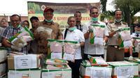 Balai Besar Karantina Pertanian (BBKP) Bandara Internasional Soekarno Hatta memusnahkan enam ton bibit jagung asal India pada Sabtu (30/3/2019) (Foto:Liputan6.com/Pramita T)