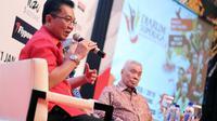 Ketua Panitia Penyelenggara Djarum Superliga Badminton 2019 Achmad Budiharto. Superliga Badminton 2019 digelar di Sabuga, Bandung, 18 hingga 24 Februari. (Humas Djarum)