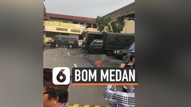 Sebuah bom bunuh diri meledak di dekat kantin Mapolresta Medan. Pelaku diduga dua orang dan mengenakan atribut ojek online ketika meledakkan diri.