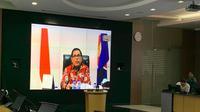 Video Conference bersama Dubes RI untuk RRT dan Mongolia, Djauhari Oratmangun, pada Senin (10/2/2020). (Liputan6.com/Benedikta Miranti T.V)