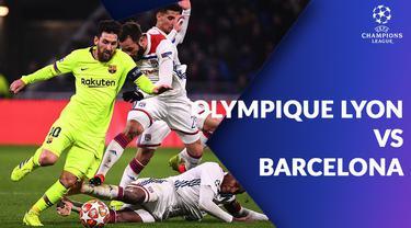Berita video statistik Olympique Lyon vs Barcelona pada 16 besar Liga Champions 2018-2019 leg 1, Rabu (20/2/2019).