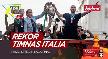 Berita video Time Out kali ini tentang fakta-fakta menarik yang hadir setelah laga Final Euro 2020, salah satunya rekor mengesankan Timnas Italia.