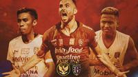 Uji Coba - Timnas Indonesia U-22 Vs Bali United - Fadil Sausu, Ilija Spasojevic, Fahmi Al Ayyubi (Bola.com/Adreanus Titus)