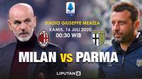 Banner prediksi AC Milan vs Parma di Liga Italia. (Triyasni)