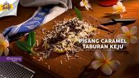 Buat kamu yang doyan ngemil, Bintang Tasty punya resep Pisang Caramel Taburan Keju nih.  (Foto: Bintang.com/Daniel Kampua, Digital Imaging: Bintang.com/Muhammad Iqbal Nurfajri)