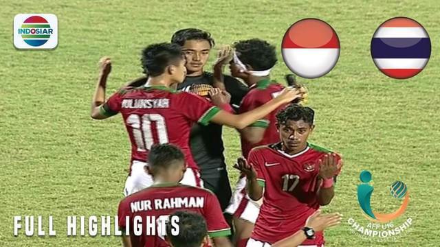 Berita video momen adu penalti final Piala AFF U-16 2018, Timnas Indonesia vs Thailand, yang berakhir dengan skor 4-3, Sabtu (11/8/2018).