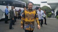 Ketua DPR Bambang Soesatyo bersama pimpinan dan anggota dewan menyambangi Istana Kepresidenan, Senin (23/9/2019). (Merdeka/ Sania Mashabi)