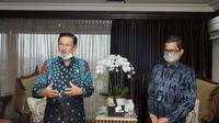 Wakil Ketua MPR Fadel Muhammad menerima Dirut BTN Pahala Mansury, di Ruang Kerja Wakil Ketua MPR, Gedung Nusantara III Lantai 9, Kompleks MPR/DPR, Jakarta, Senin (27/10/2020).