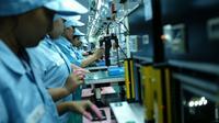 Ilustrasi: pabrik smartphone