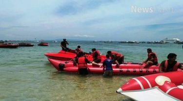 Kedatangan rombongan Raja Salman itu dibenarkan pemilik wisata olahraga air di Tanjung Benoa bernama Yuda.