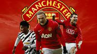 Manchester United - Marcus Rashford, Wayne Rooney, Cristiano Ronaldo (Bola.com/Adreanus Titus)