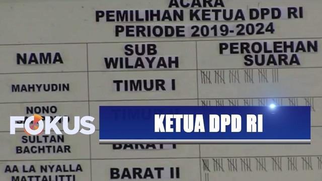 Raih suara terbanyak saat voting, La Nyalla jadi ketua DPD RI periode 2019-2024.