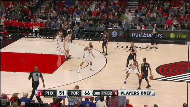 Berita video game recap NBA 2017-2018 antara Portland Trail Blazers melawan Phoenix Suns dengan skor 118-111.