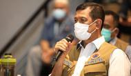 Di Bandara Soetta, Tangerang, Selasa (29/12/2020), Ketua Satgas COVID-19 Doni Monardo sampaikan WNI atau WNA yang ingin karantina di hotel lain yang telah ditentukan pemerintah, biaya ditanggung bersangkutan. (Badan Nasional Penanggulangan Bencana/BNPB)