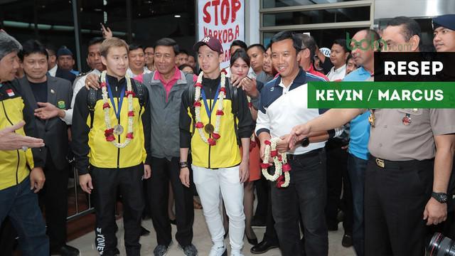 Ganda putra Indonesia, Kevin Sanjaya Sukamuljo / Marcus Ferinaldi Gideon buka rahasia bisa pertahankan gelar All England.