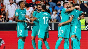 Hasil La Liga Spanyol: Sikat Valencia, Real Madrid Makin Kokoh di Puncak Klasemen