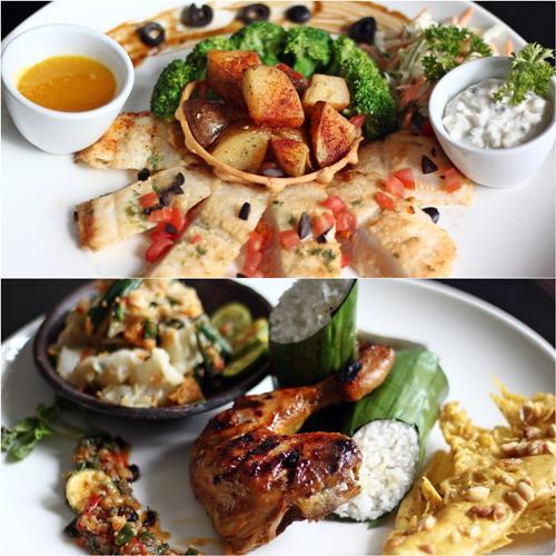 Ayam bacem sambal kencur & fish dory/Foto: copyright Hotel Santika Premiere Malang