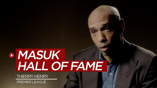 Berita video legenda Arsenal, Thierry Henry, masuk dalam Hall of Fame Liga Inggris (Premier League).