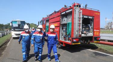 Direktur Utama PT Pertamina (Persero) memantau langsung penanganan insiden di area tangki penyimpanan di Kilang Cilacap