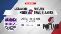 Sacramento Kings Vs Portland Trail Blazers (Bola.com/Adreanus Titus)