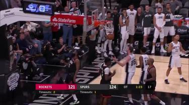 Berita Video melihat lagi laga seru San Antonio Spurs Vs Houston Rockets di NBA 2019/2020