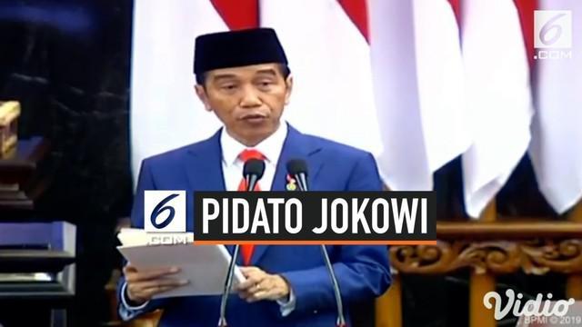 Presiden Jokowi menyampaikan Nota Keuangan dan RAPBN 2020 di Gedung DPR, Jakarta. Dalam pidatonya, Jokowi membeberkan pencapaian dan target-target ekonomi di 2019.