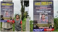 Seorang pria Magelang bernama Khoirul Anam, membuka jasa teman kencan untuk tahun baru yang diumumkan lewat spanduk di pinggir jalan. (dok. Facebook/Khoirul Anam)