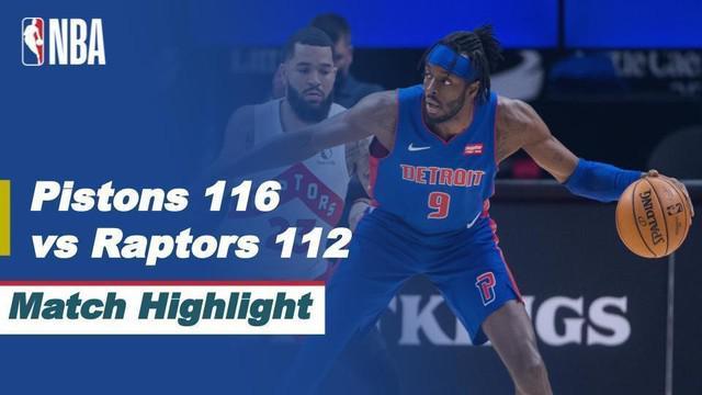 Berita video highlights Detroit Pistons melawan Toronto Raptors dalam laga musim reguler NBA 2020/2021, di mana Norman Powell menciptakan 43 poin, Kamis (18/3/2021) pagi hari WIB.
