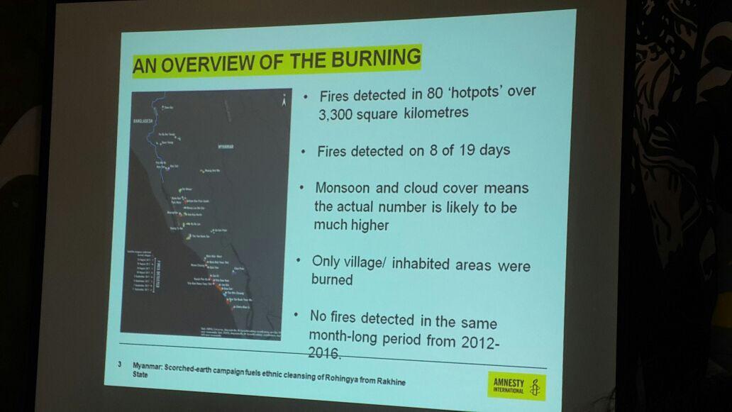 Presentasi laporan tim pencari fakta Amnesti International terkait krisis kemanusiaan Rohingya. Penyampaian itu dilaksanakan di kantor Amnesty International Indonesia di Jakarta, (15/9/2017) (Rizki Akbar Hasan/Liputan6.com)