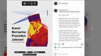 BEM Fisip Unpad melontarkan kritikan terhadap Jokowi. (Instagram @bemfisipunpad)