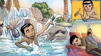 Ilustrasi pria yang tergigit nyamuk malaria dari Minute Videos Indonesia.