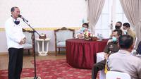 Wali Kota (Wako) Palembang Harnojoyo menggelar rapat persiapan PSBB Palembang periode ke dua (Dok. Humas Pemkot Palembang / Nefri Inge)