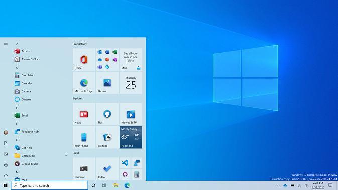Tampilan menu Start yang baru di Windows 10 (Doc. Microsoft)