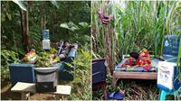 Tidur di kebun (Sumber: Instagram/anam_chenel)