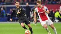 Matthijs De Ligt resmi ditebus Juventus dari Ajax Amsterdam pada 18 Juli 2019. (AFP/EMMANUEL DUNAND)