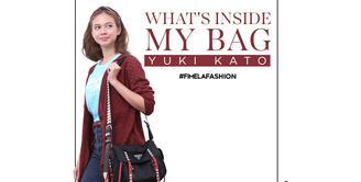 Yuki Kato dan tas favoritnya.